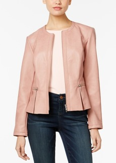 Inc International Concepts Faux-Leather Peplum Jacket, Only at Macy's