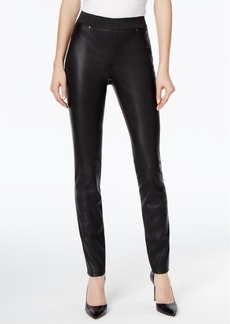 Inc International Concepts Faux-Leather Skinny Pants, Only at Macy's