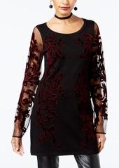 INC International Concepts I.n.c. Flocked Velvet Sweater, Created for Macy's