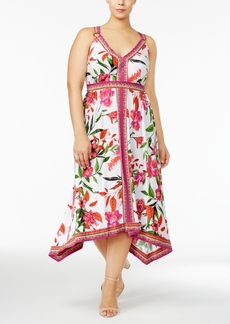 Inc International Concepts Floral-Print Handkerchief-Hem Dress, Created for Macy's