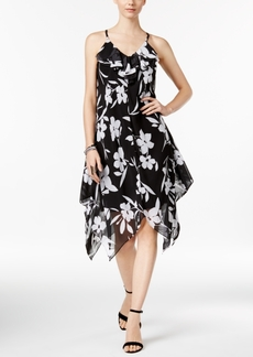 Inc International Concepts Floral-Print Handkerchief-Hem Dress, Only at Macy's