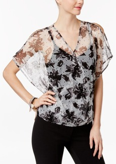 Inc International Concepts Floral-Print Mesh Top, Only at Macy's