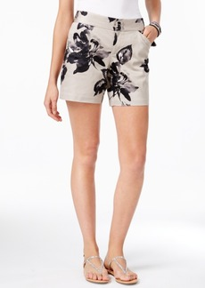Inc International Concepts Curvy Floral-Print Shorts, Only at Macy's