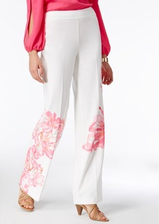 Inc International Concepts Floral-Print Trousers, Only at Macy's
