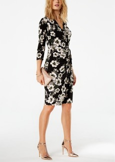 I.n.c. Floral-Print Wrap Dress, Created for Macy's