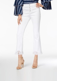 Inc International Concepts Fringe-Trim Cropped Jeans, Only at Macy's