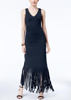 Inc International Concepts Fringe-Trim Maxi Dress, Created for Macy's