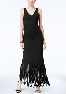 Inc International Concepts Fringe-Trim Maxi Dress, Only at Macy's
