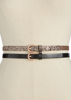 Inc International Concepts Glitter 2-for-1 Skinny Belts, Only at Macy's