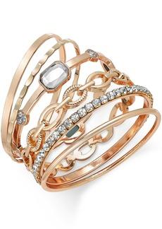 Inc International Concepts Gold-Tone Crystal Enhanced Multi-Bangle Bracelet, Created for Macy's
