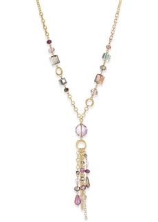 Inc International Concepts Gold-Tone Multi-Beaded Tassel Lariat Necklace, Only at Macy's