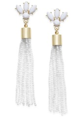 Inc International Concepts Gold-Tone Stone & Bead Tassel Drop Earrings, Only at Macy's