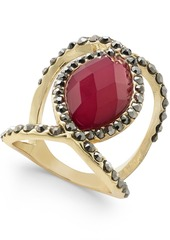 Inc International Concepts Gold-Tone Stone Statement Ring, Created for Macy's