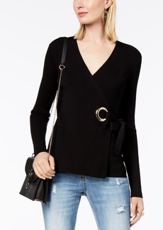 INC International Concepts I.n.c. Petite Grommet Wrap Sweater, Created for Macy's