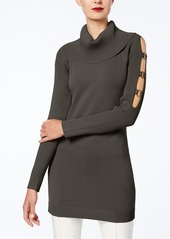 INC International Concepts I.n.c. Grommet-Trim Tunic Sweater, Created for Macy's