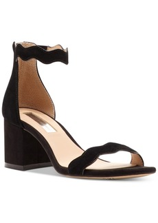 Inc International Concepts Hadwin Scallop Block-Heel Sandals, Only at Macy's Women's Shoes