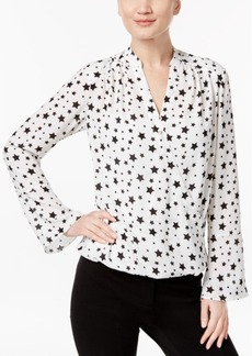 Inc International Concepts High-Low Star-Print Blouse, Only at Macy's