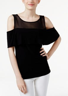 Inc International Concepts Illusion Cold-Shoulder Top, Created for Macy's
