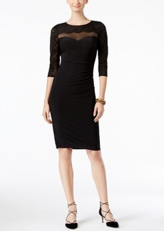 Inc International Concepts Illusion Lace Sheath Dress, Only at Macy's
