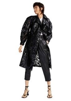 Inc International Concepts Illusion Lace Trench Coat, Created for Macy's