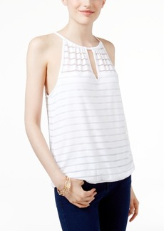 Inc International Concepts Illusion-Stripe Halter Top, Created for Macy's