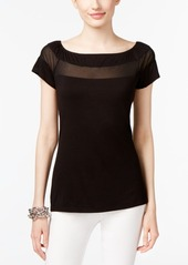 Inc International Concepts Plus Size Illusion Top, Created for Macy's