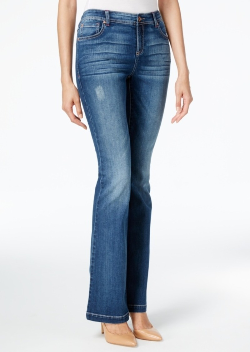 Inc International Concepts Curvy Slim Flare-Leg Jeans, Only at Macy's