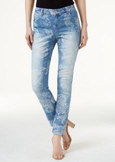 Inc International Concepts Jacquard Curvy Skinny Jeans, Created for Macy's