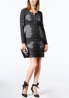 Inc International Concepts Jacquard Sheath Dress, Created for Macy's