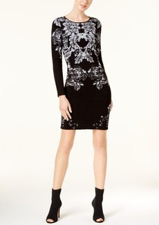 Inc International Concepts Jacquard Sweater Dress, Created for Macy's