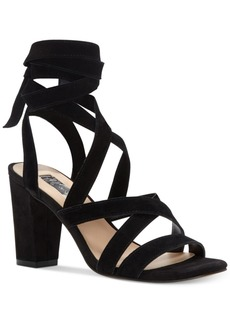 Inc International Concepts Kailey Lace-Up Block-Heel Sandals, Only at Macy's Women's Shoes