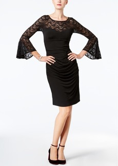 I.n.c. Petite Lace Bell-Sleeve Sheath Dress, Created for Macy's