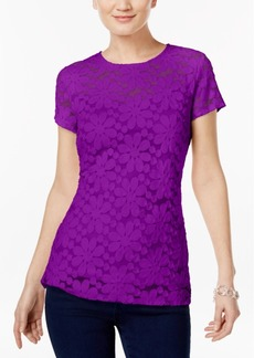 Inc International Concepts Lace Illusion Top, Created for Macy's