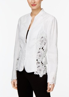 Inc International Concepts Lace-Inset Jacket, Only at Macy's