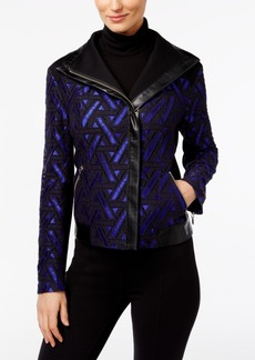 Inc International Concepts Lace Moto Jacket, Only at Macy's