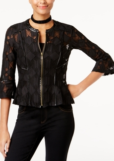 Inc International Concepts Lace Peplum Jacket, Created for Macy's