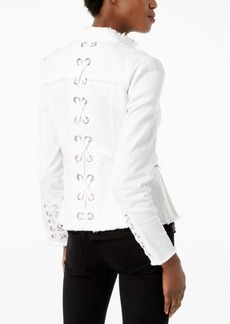 Inc International Concepts Lace-Up-Back Denim Jacket, Created for Macy's