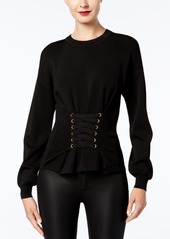 Inc International Concepts Lace-Up Corset Sweater, Created for Macy's