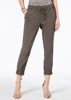 INC International Concepts I.n.c. Lace-Up Cropped Jogger Pants, Created for Macy's