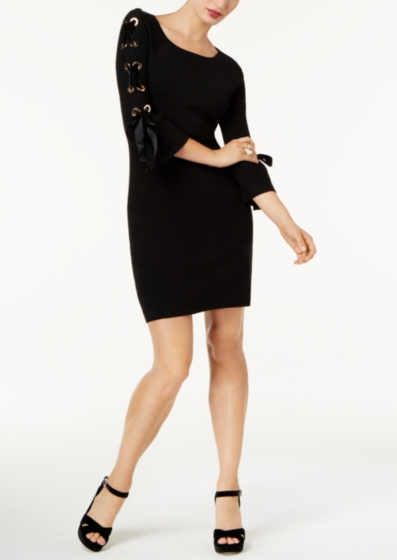 Inc International Concepts Lace-Up Sweater Dress, Created for Macy's