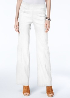 Inc International Concepts Curvy Linen-Blend Wide-Leg Pants, Only at Macy's