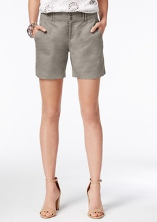 Inc International Concepts Linen Curvy-Fit Shorts, Only at Macy's
