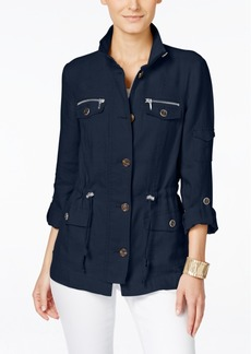Inc International Concepts Linen Utility Jacket, Only at Macy's
