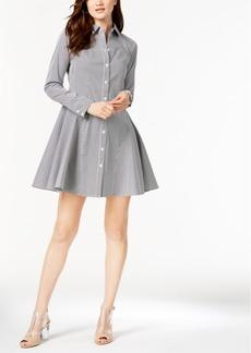 I.n.c. Petite Striped Shirtdress, Created for Macy's