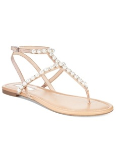 I.n.c. Madigane Embellished Flat Thong Sandals, Created for Macy's Women's Shoes