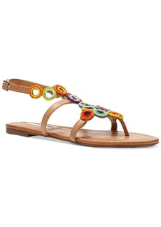 Inc International Concepts Marstie Popsicle Collection Embellished Strappy Flat Sandals, Only at Macy's Women's Shoes