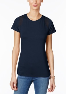 Inc International Concepts Mesh-Inset T-Shirt, Only at Macy's