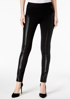 INC International Concepts I.n.c. Metallic-Print Moto Leggings, Created for Macy's