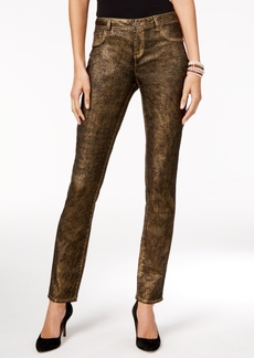 Inc International Concepts Metallic Skinny Jeans, Only at Macy's