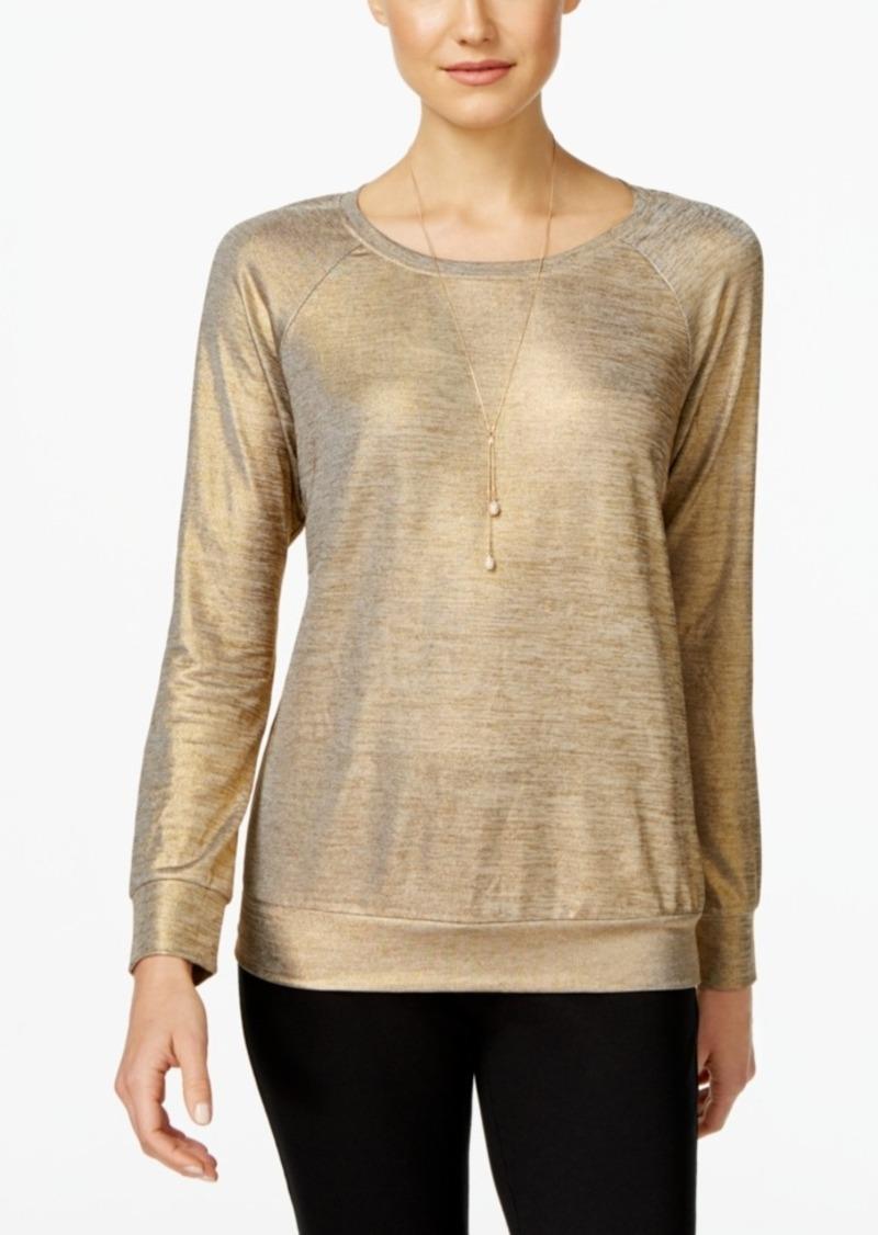 Inc International Concepts Metallic Sweatshirt, Only at Macy's